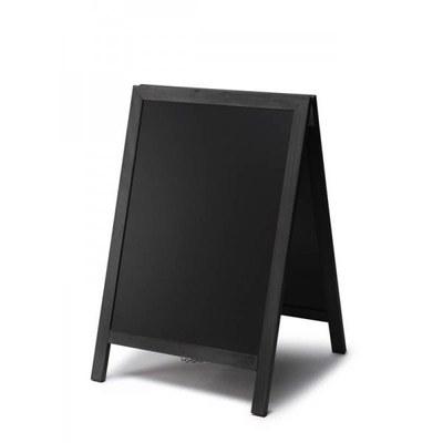 Holz-Aufsteller (geschlossener Rahmen) Format: 55x85cm - Profil: eckig Farbe des Holzrahmens: schwarz - Holz-Aufsteller-schwarz