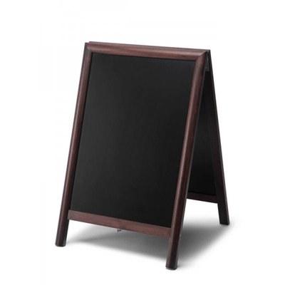 Holz-Aufsteller (geschlossener Rahmen) Format: 55x85cm 55x85 cm - Holz-Aufsteller-dunkelbraun