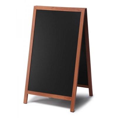Holz-Aufsteller (geschlossener Rahmen) Format: 68x120cm 68x120 cm - Holz-Aufsteller-hellbraun-lang