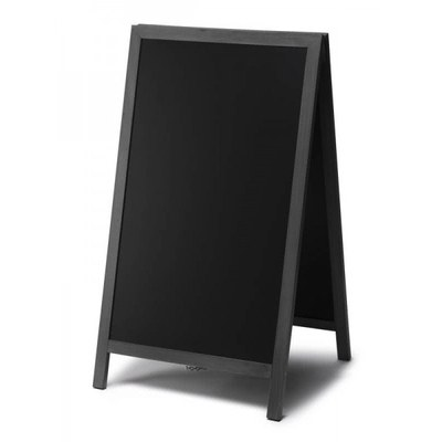Holz-Aufsteller (geschlossener Rahmen) Format: 68x120cm - Profil: eckig Farbe des Holzrahmens: schwarz - Holz-Aufsteller-schwarz-lang