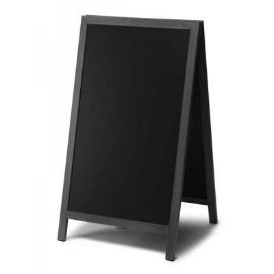 Holz-Aufsteller (geschlossener Rahmen) Format: 68x120cm 68x120 cm - Holz-Aufsteller-schwarz-lang