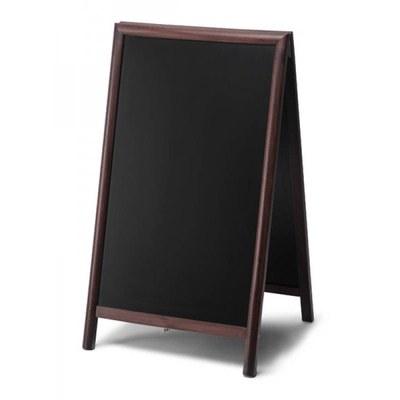 Holz-Aufsteller (geschlossener Rahmen) Format: 68x120cm - Profil: rund Farbe des Holzrahmens: dunkelbraun - Holz-Aufsteller-dunkelbraun-lang