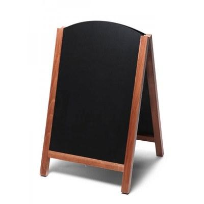 Holz-Aufsteller (oben offener Rahmen) Format: 55x85cm - Profil: eckig Farbe des Holzrahmens: hellbraun - Holz-Aufsteller-Fast-Switch-hellbraun
