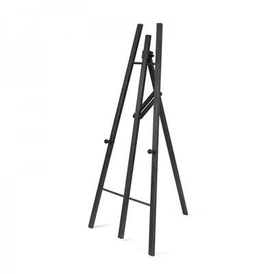 Holz-Staffelei B: 760 x H:1610 x T:850 mm Farbe des Holzgestells: schwarz - Holz-Staffelei-schwarz