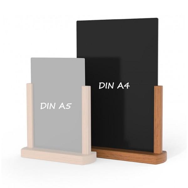 Holz-Tischaufsteller-DINA4-hellbraun