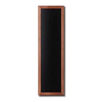 Holz-Wand-Kreidetafel (Profil: eckig) Format: 400x1200mm Farbe des Holzrahmens: hellbraun - Holz-Wand-Kreidetafel-eckiges-Profil-400x1200-hellbraun