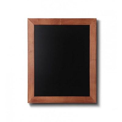 Holz-Wand-Kreidetafel (Profil: eckig) Format: 400x500mm Farbe des Holzrahmens: hellbraun - Holz-Wand-Kreidetafel-eckiges-Profil-400x500-hellbraun