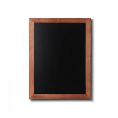 Holz-Wand-Kreidetafel (Profil: eckig) Format: 500x600mm Farbe des Holzrahmens: hellbraun - Holz-Wand-Kreidetafel-eckiges-Profil-500x600-hellbraun