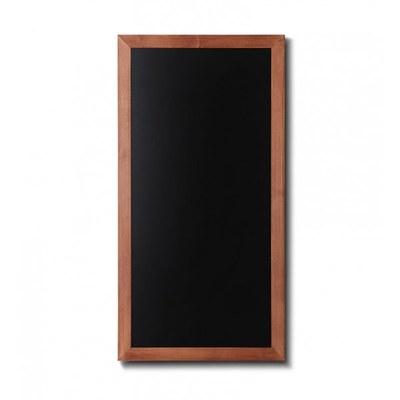 Holz-Wand-Kreidetafel (Profil: eckig) Format: 560x1000mm Farbe des Holzrahmens: hellbraun - Holz-Wand-Kreidetafel-eckiges-Profil-560x1000-hellbraun
