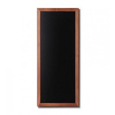 Holz-Wand-Kreidetafel (Profil: eckig) Format: 560x1200mm Farbe des Holzrahmens: hellbraun - Holz-Wand-Kreidetafel-eckiges-Profil-560x1200-hellbraun