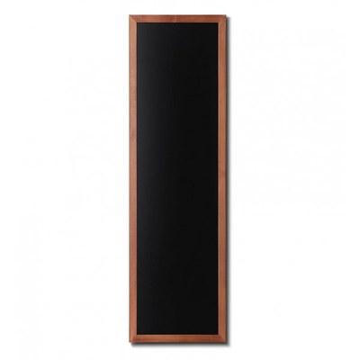 Holz-Wand-Kreidetafel (Profil: eckig) Format: 560x1700mm Farbe des Holzrahmens: hellbraun - Holz-Wand-Kreidetafel-eckiges-Profil-560x1700-hellbraun