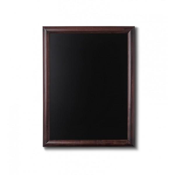 Holz-Wand-Kreidetafel-rundes-Profil-500x600-dunkelbraun