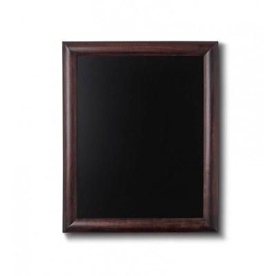 Holz-Wand-Kreidetafel (Profil: rund) Formt: 400x500mm 400x500 mm - Holz-Wand-Kreidetafel-rundes-Profil-400x500-dunkelbraun