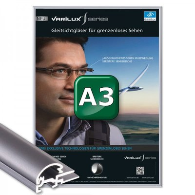 Klapprahmen Standard Einlegeformat: DIN A3 (297x420 mm) DIN A3 (297x420 mm) - Klapprahmen A3 15mm Gehrung