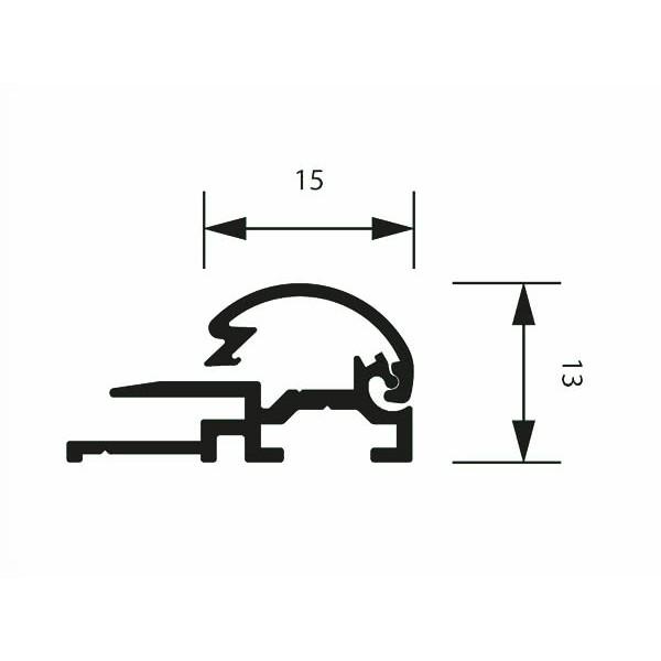 klapprahmen 15erprofil detail zeichnung 3