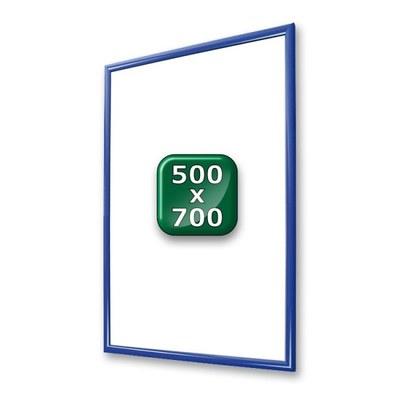 Klapprahmen Standard Einlegeformat: 500x700 mm 500x700 mm - klapprahmen-25er-profil-gehrung-blau-500x700
