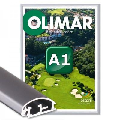 Klapprahmen Standard Einlegeformat: DIN A1 (594x841 mm) DIN A1 (594x841 mm) - Klapprahmen A1 25mm Gehrung