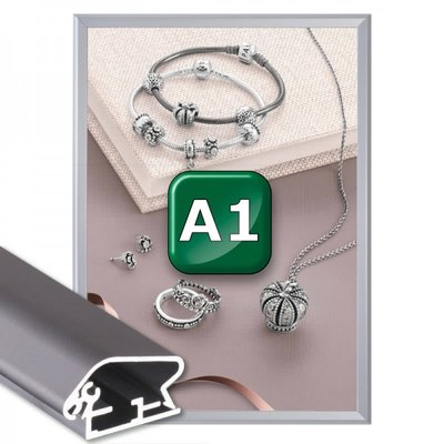 Klapprahmen Standard Einlegeformat: DIN A1 (594x841 mm) DIN A1 (594x841 mm) - Klapprahmen A1 32mm Gehrung