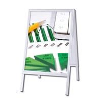 Kundenstopper OUTDOOR Einlegeformat: 500x700 mm Profil: 32mm Gehrung - Kundenstopper-Outdoor-500x700-Gehrung