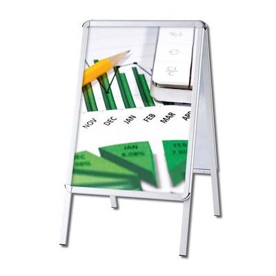 Kundenstopper OUTDOOR Einlegeformat: DIN A1 (594x841 mm) Profil: 32mm Rondo - Kundenstopper-Outdoor-Rondo