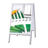 Kundenstopper OUTDOOR Einlegeformat: DIN A1 (594x841 mm) Profil: 32mm Gehrung - Kundenstopper-Outdoor-Gehrung Neutral