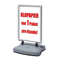 Kundenstopper Swing-Master ECO Einlegeformat: DIN A1 (594x841 mm) Profil: 38mm - Oberprofile: silber-eloxiert (EV1) - kundenstopper-swing-master-eco-Aktion-silber