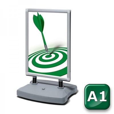 Kundenstopper Swing-Master ECO Einlegeformat: DIN A1 (594x841 mm) DIN A1 (594x841 mm) - swing master eco v20017 silber a1