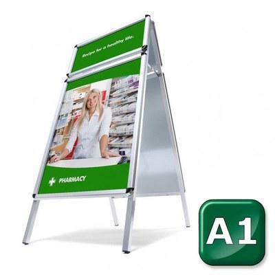 Kundenstopper TOPRAHMEN Einlegeformat: DIN A1 (594x841 mm) DIN A1 (594x841 mm) - kundenstopper toprahmen rondo 1 2