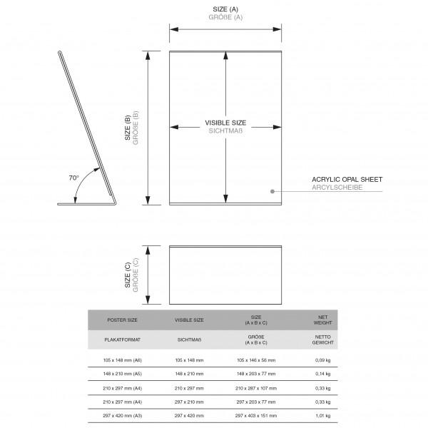 Dispenser-L-Aufsteller-DIN-A3-Hochformat-PLA-Zeichnung 2
