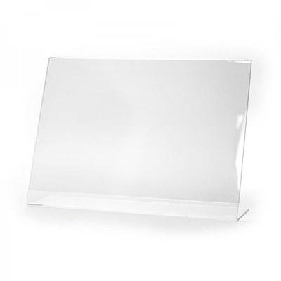 L-Aufsteller - Querformat Einlegeformat: DIN A4 (297x210 mm) Ausrichtung: Querformat - Dispenser-L-Aufsteller-DIN-A4-Querformat-PLA008Q