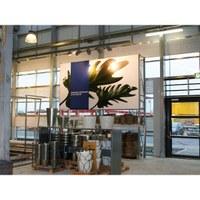 No-Frame Aluminium-Rahmen Farbe: silber-eloxiert - mit beidseitige außenliegender Nut zur Spannung - No-Frame-Grafikrahmen-IKEA-1