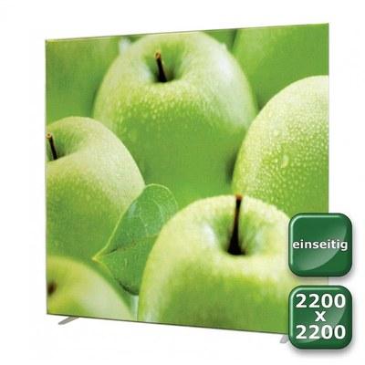 No-Frame Standdisplay Einseitig - Format: 2.200x2.200 mm Farbe: silber-eloxiert - mit einseitiger, - NOFrame-einseitig-2200x2200