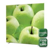 No-Frame Standdisplay Einseitig - Format: 2.500x2.200 mm Farbe: silber-eloxiert - mit einseitiger, - NOFrame-einseitig-2500x2200