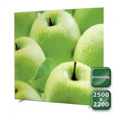 No-Frame Standdisplay Einseitig - Format: 2.500x2.200 mm 2.500x2.200 mm - NOFrame-einseitig-2500x2200