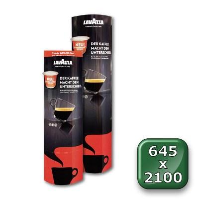 POS-Säule Pappe PREMIUM Format: 645 x 2.100 mm (faltbar) 645 x 2.100 mm - Faltdisplay Pappe PREMIUM 645x2100