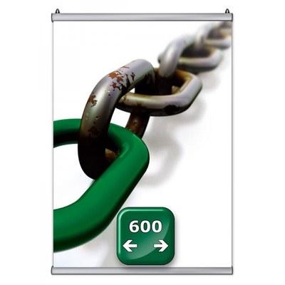 Poster-Snap Klemmleisten-Set Profil-Länge: 600 mm Profillänge 600mm - Poster-Snap-600
