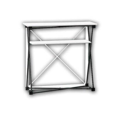 Promotiontheke Pop-Up TEXTIL mit Deckelplatte in WEISS / OHNE Druck None - PT-T-W-o-D-PopUp-Textil 2