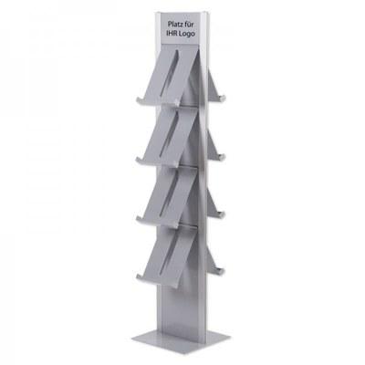 Prospektständer DESIGN Freistehender Bodenständer, doppelseitig - Prospektst nder-Design-Standmodell-doppelseitig 1