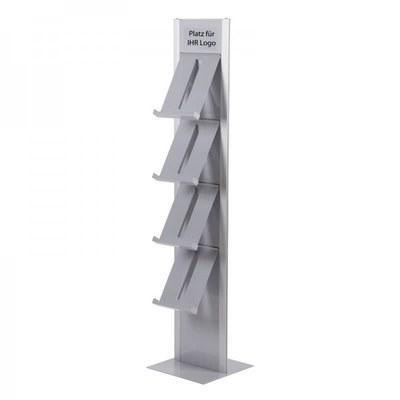 Prospektständer DESIGN Freistehender Bodenständer, einseitig Abmessungen: 370x1.655x417mm - Prospektst nder-Design-Standmodell-einseitig 1