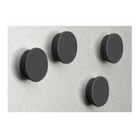 Magnetset  = 8 Magnete schwarz Durchmesser d = 35mm - zubehoer magnete swz