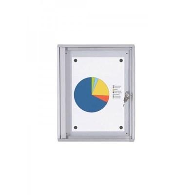 Schaukasten ECO BT26 Indoor 1x1 DIN A4 (Außenformat: 271x350mm) Gehäuse und Rahmen aus Aluminium - Schaukasten BT26  Indoor 1x1