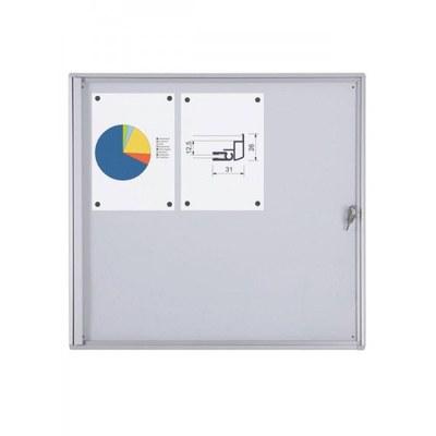 Schaukasten ECO BT26 Indoor 2x3 DIN A4 (Außenformat: 711x655mm) Gehäuse und Rahmen aus Aluminium - Schaukasten BT26  Indoor 2x3