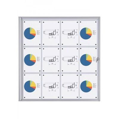 Schaukasten ECO BT26 Indoor 3x4 DIN A4 (Außenformat: 931x963mm) 12x DIN A4 - Schaukasten BT26  Indoor 3x4