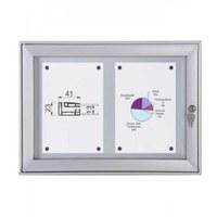 Schaukasten Flat BT23 Indoor/Outdoor 2x1 DIN A4 (Außenformat: 521x388mm) Gehäuse und Rahmen aus Aluminium - Schaukasten Flat BT23.jpeg