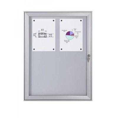 Schaukasten Flat BT23 Indoor/Outdoor 2x2 DIN A4 (Außenformat: 521x696mm) Gehäuse und Rahmen aus Aluminium - Schaukasten FLAT BT23 Indoor Outdoor 2x2