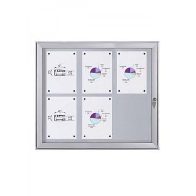 Schaukasten Flat BT23 Indoor/Outdoor 3x2 DIN A4 (Außenformat: 741x696mm) Gehäuse und Rahmen aus Aluminium - Schaukasten FLAT BT23 Indoor Outdoor 3x2