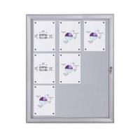 Schaukasten Flat BT23 Indoor/Outdoor 3x3 DIN A4 (Außenformat: 741x1.004mm) Gehäuse und Rahmen aus Aluminium - Schaukasten FLAT BT23 Indoor Outdoor 3x3