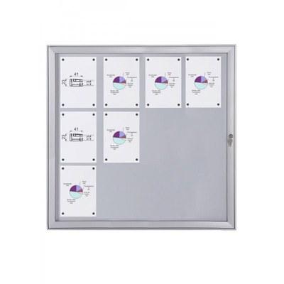 Schaukasten Flat BT23 Indoor/Outdoor 4x3 DIN A4 (Außenformat: 961x1.004mm) 12x DIN A4 - Schaukasten FLAT BT23 Indoor Outdoor 4x3