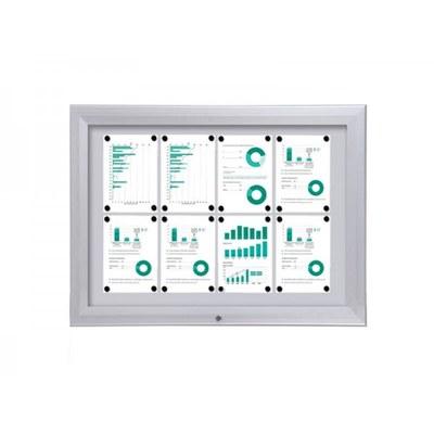 Schaukasten Premium BT46 Outdoor 4x2 DIN A4 (Außenformat: 1.025x760mm) 8x DIN A4 - Schaukasten PREMIUM BT46 Outdoor Quer 4x2
