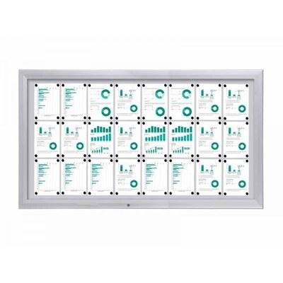 Schaukasten Premium BT46 Outdoor 8x3 DIN A4 (Außenformat: 1.905 x 1.067mm) Gehäuse und Rahmen aus Aluminium - schaukasten premium bt46 outdoor quer 8x3